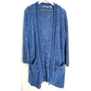 Soft Surroundings Chenille Dream Cardigan Blue - S